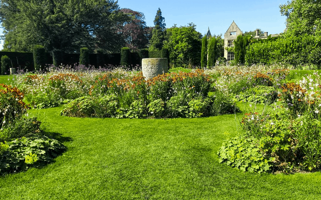 Beautiful flower beds at Nymans