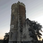 Side view of the folly tower