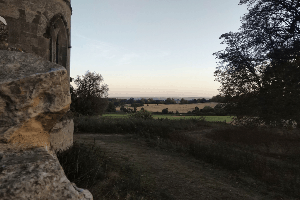 View from the Gothic Folly at Wimpole