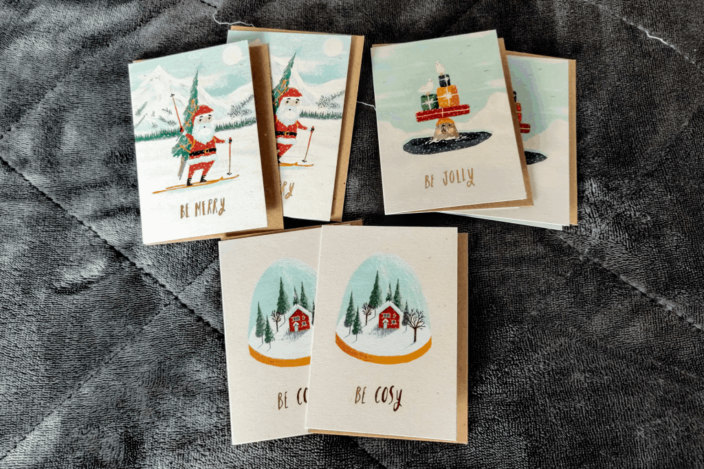 Christmas cards from the Papergang November 2019 stationery box