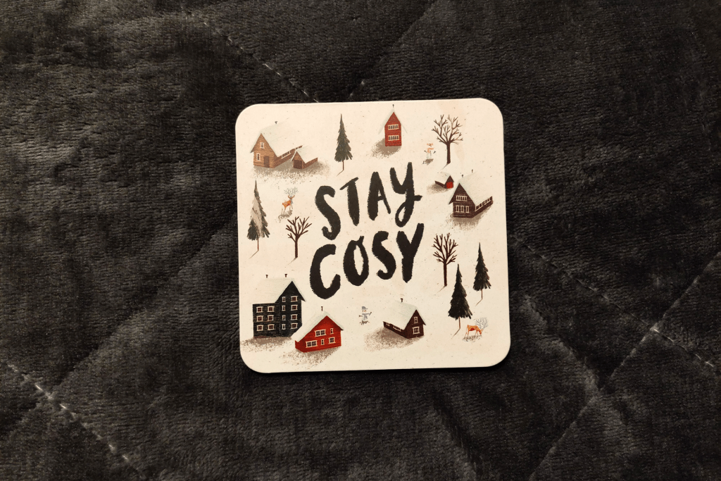 Drinks coaster from the Papergang November 2019 stationery box
