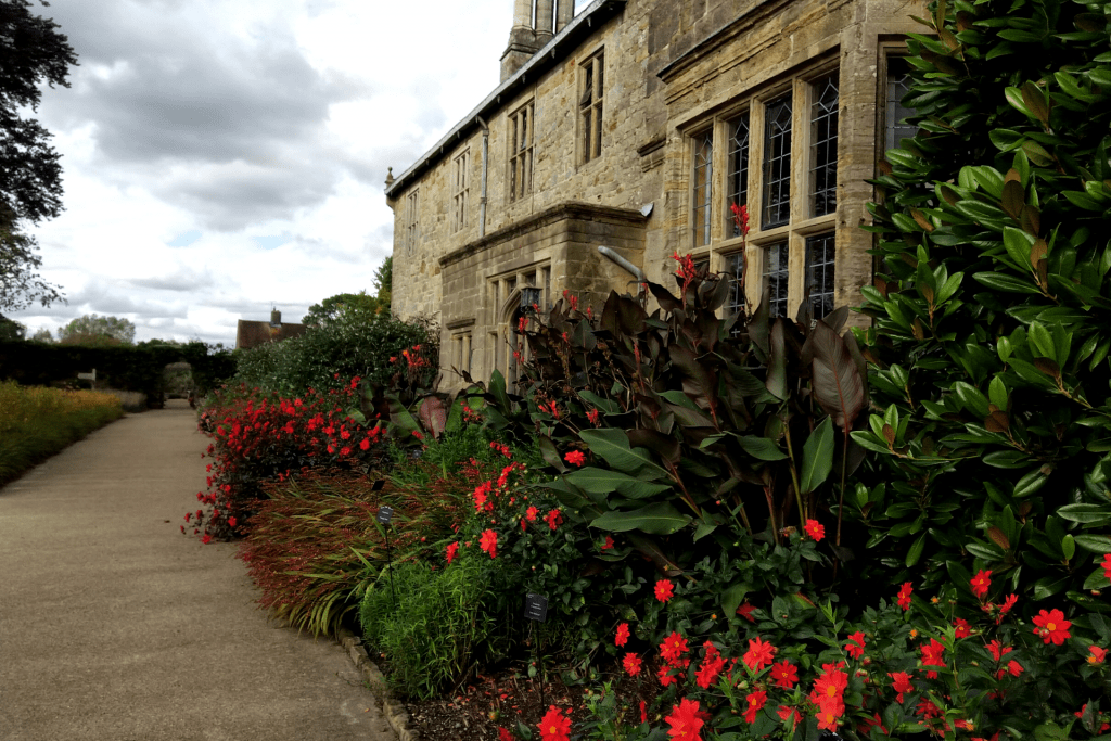 The flowerbeds around the Elizabethan manor house at Wakehurst