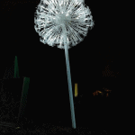One of the dandelion clocks at the Lightopia festival at Chiswick House