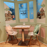 Tables at the Pusheen Cafe