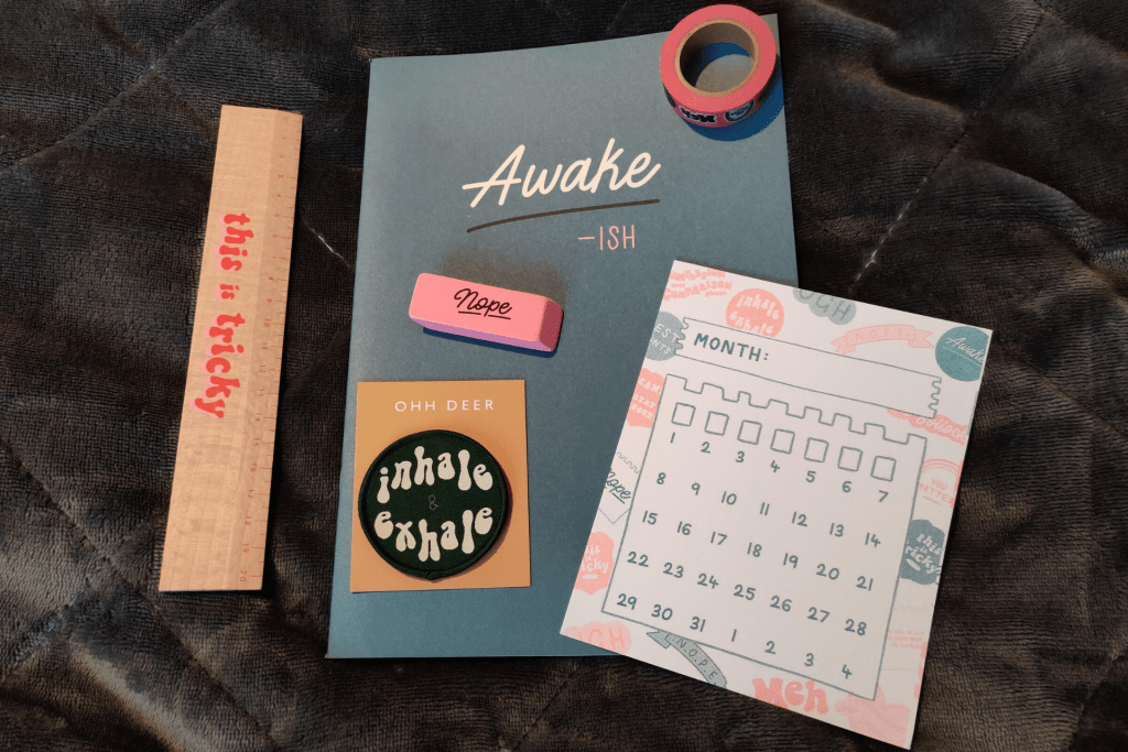 Contents of the February 2020 Papergang subscription box