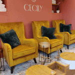The pedicure area at Cecily
