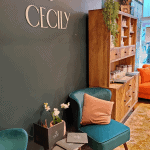 The waiting area at Cecily