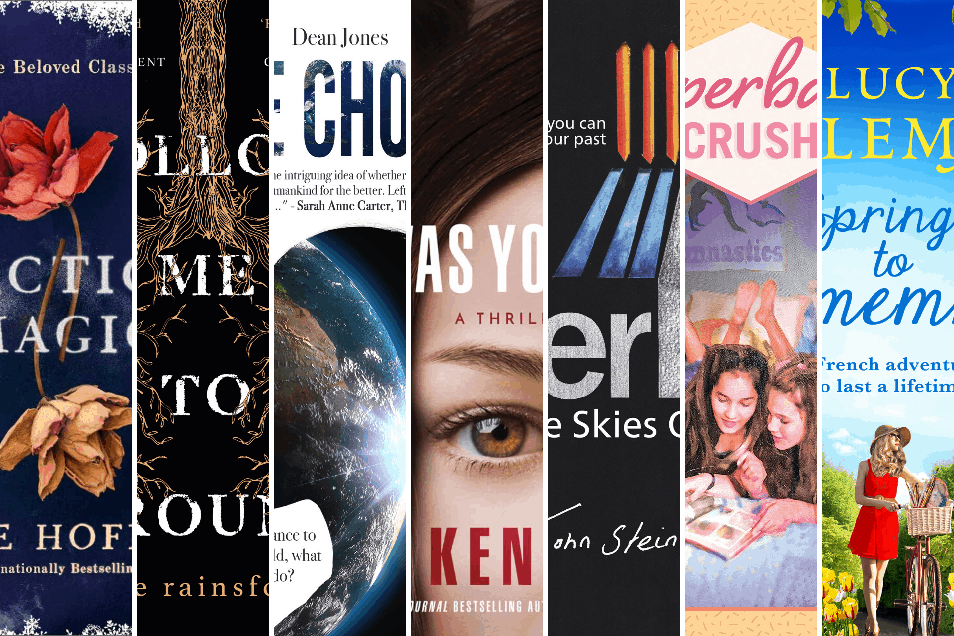 Montage of book covers I read in February