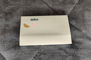 Sticky notes from the March 2020 Papergang box