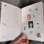 Art page inside the daily planner from the April 2020 Papergang box
