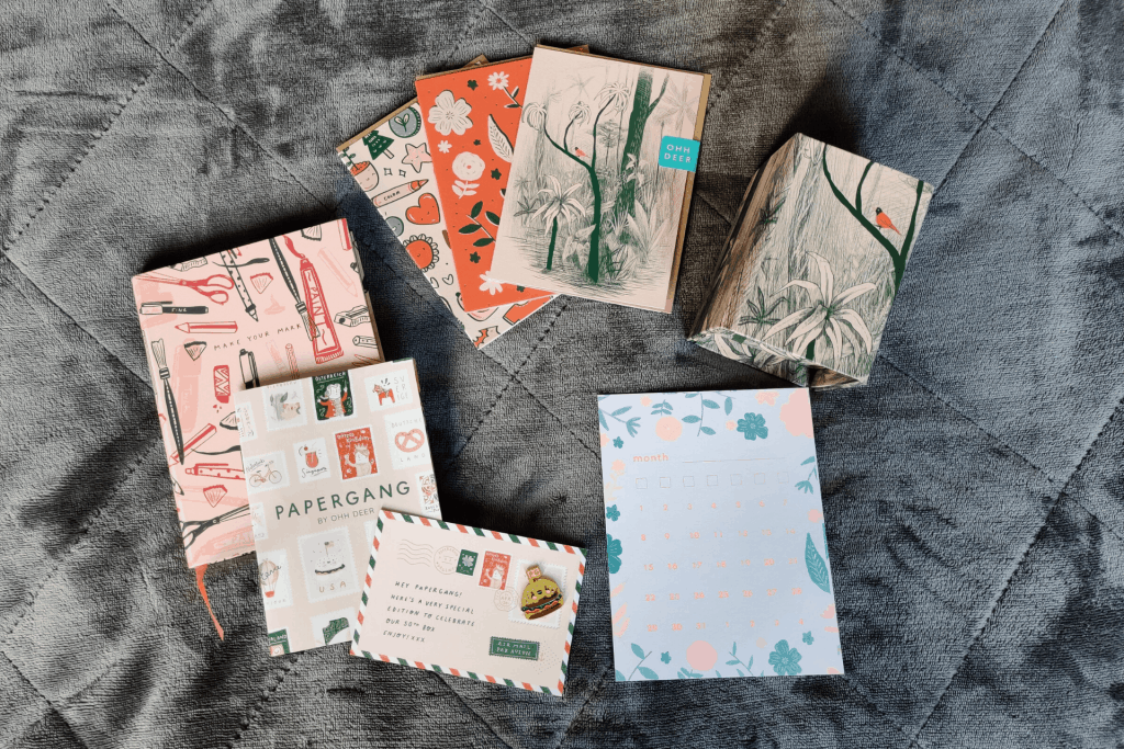 Here's what's inside the April 2020 Papergang subscriptionbox