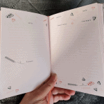 Inside the daily planner from the April 2020 Papergang box