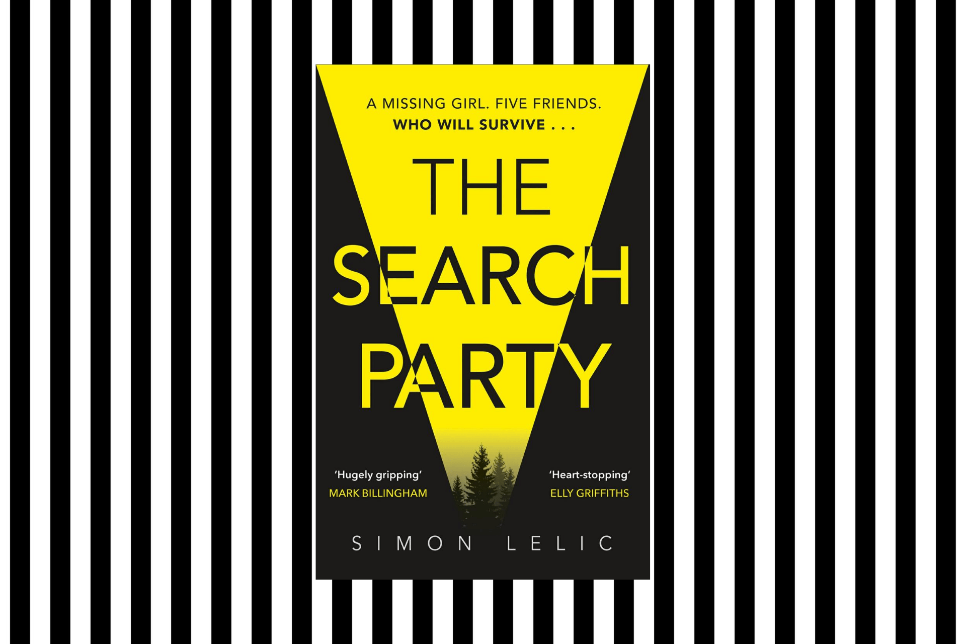 The cover of The Search Party by Simon Lelic