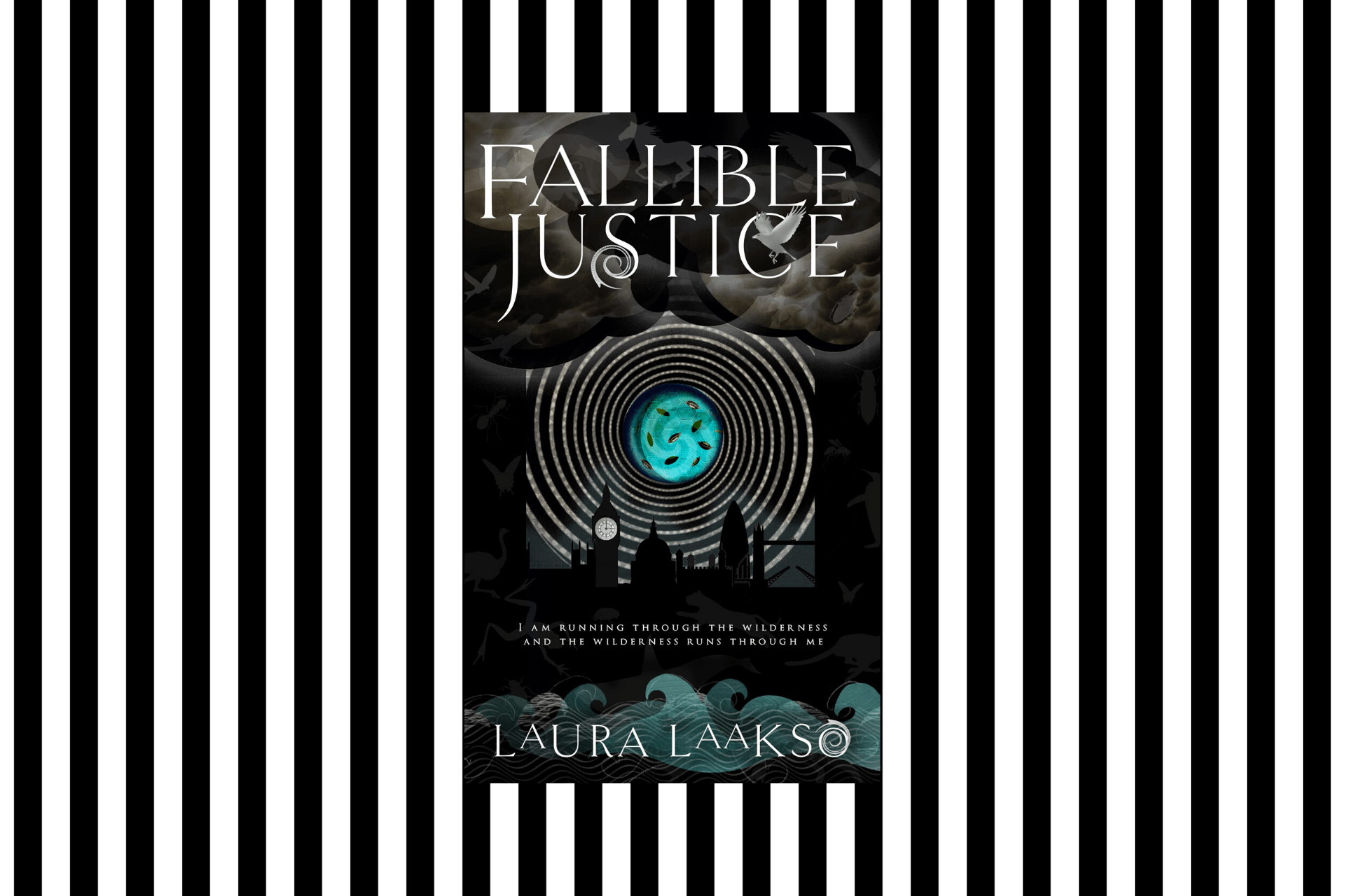 The cover of Fallible Justice by Laura Laakso