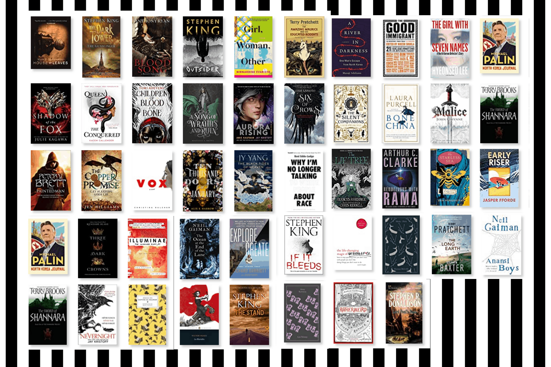 My 20 books of summer (plus a few extras)