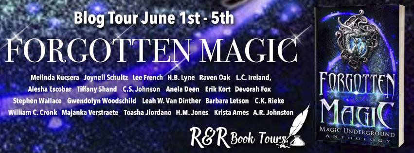 The tour banner for Forgotten Magic