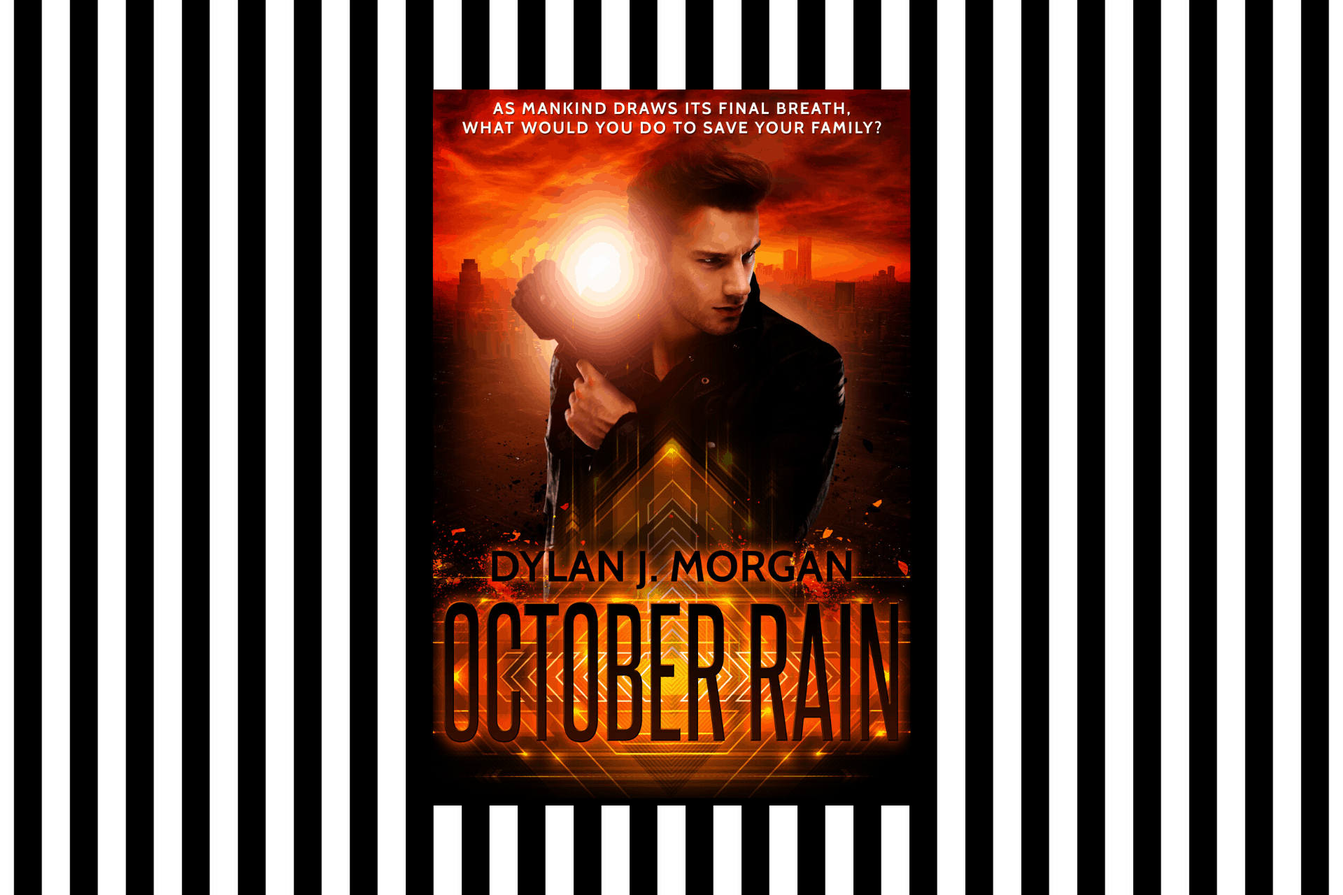 The cover of October Rain by Dylan J Morgan