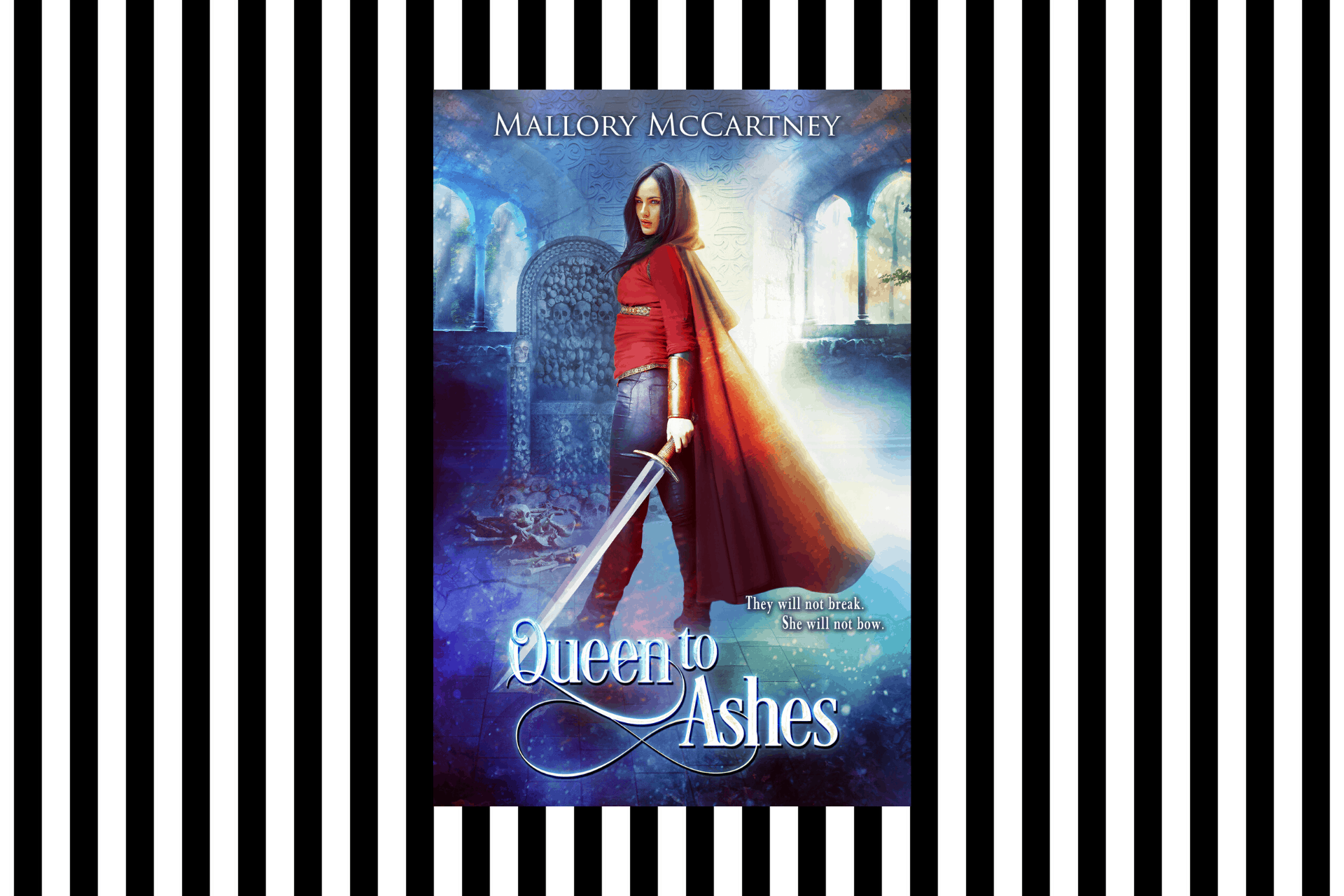 The cover of Queen to Ashes by Mallory McCartney