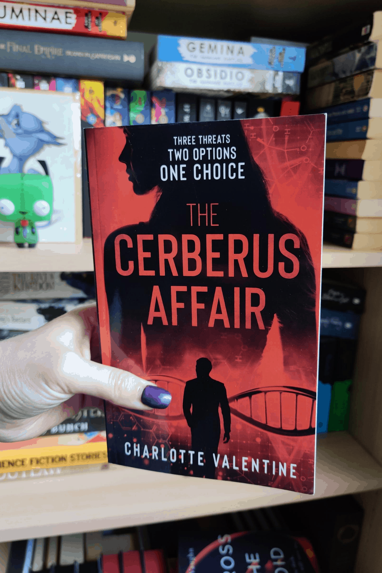 The cover of The Cerberus Affair, by Charlotte Valentine