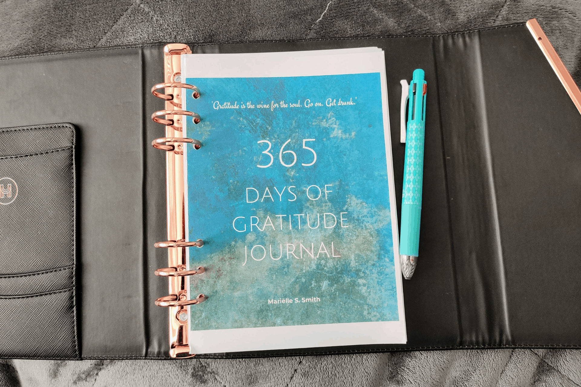 The cover of the 365 Days of Gratitude Journal by Marielle S Smith