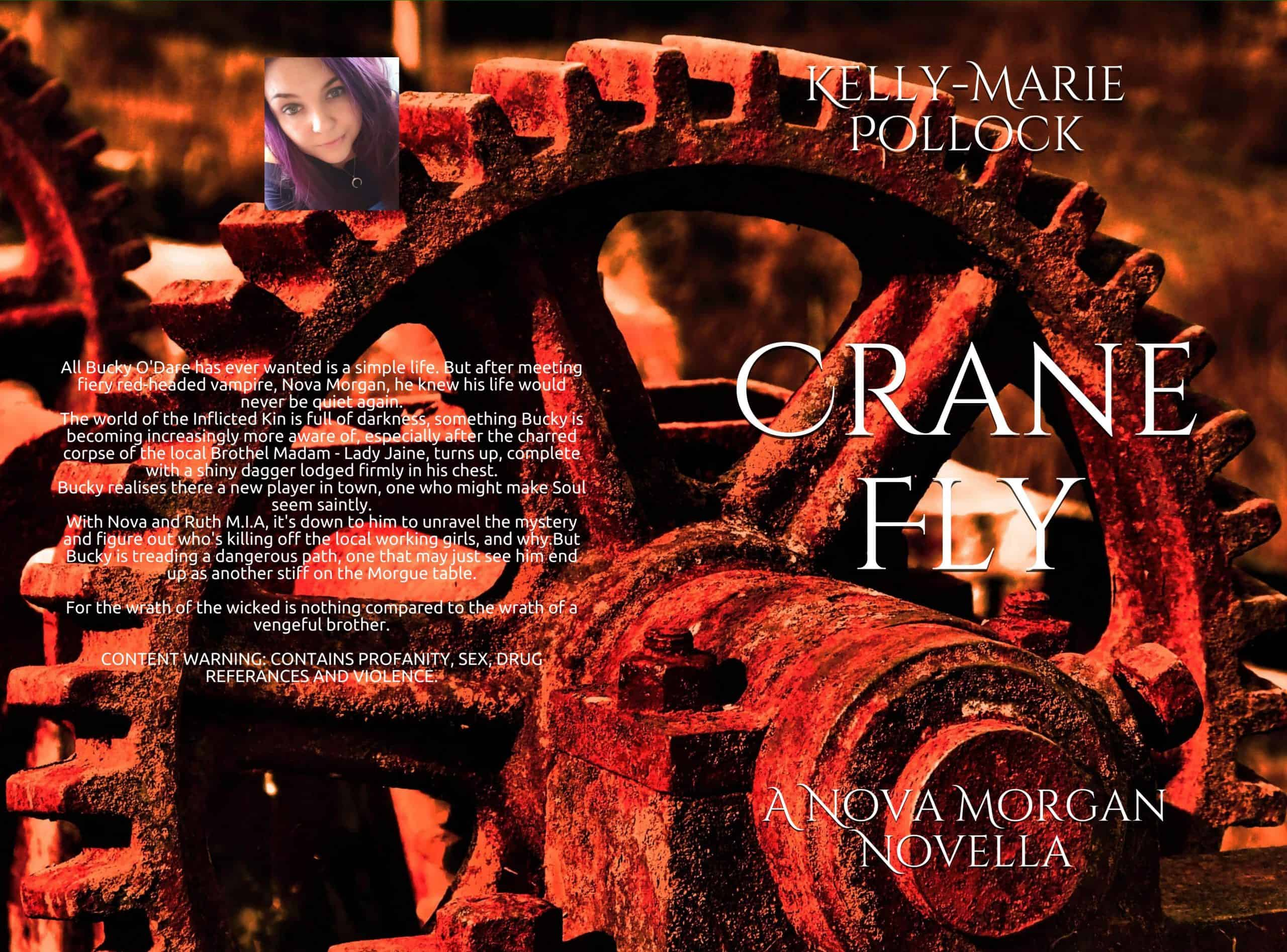 The cover and blurb for Crane Fly by Kelly-Marie Pollock