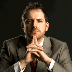 Joe Abercrombie, the author of The Trouble with Peace