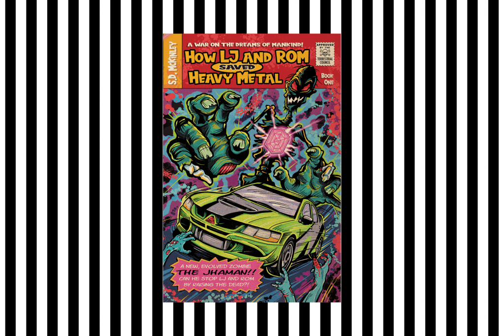 The cover of How LJ and Rom Saved Heavy Metal by S D McKinley