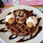 The Shooky Chocolate Waffle at the Artbox Cafe