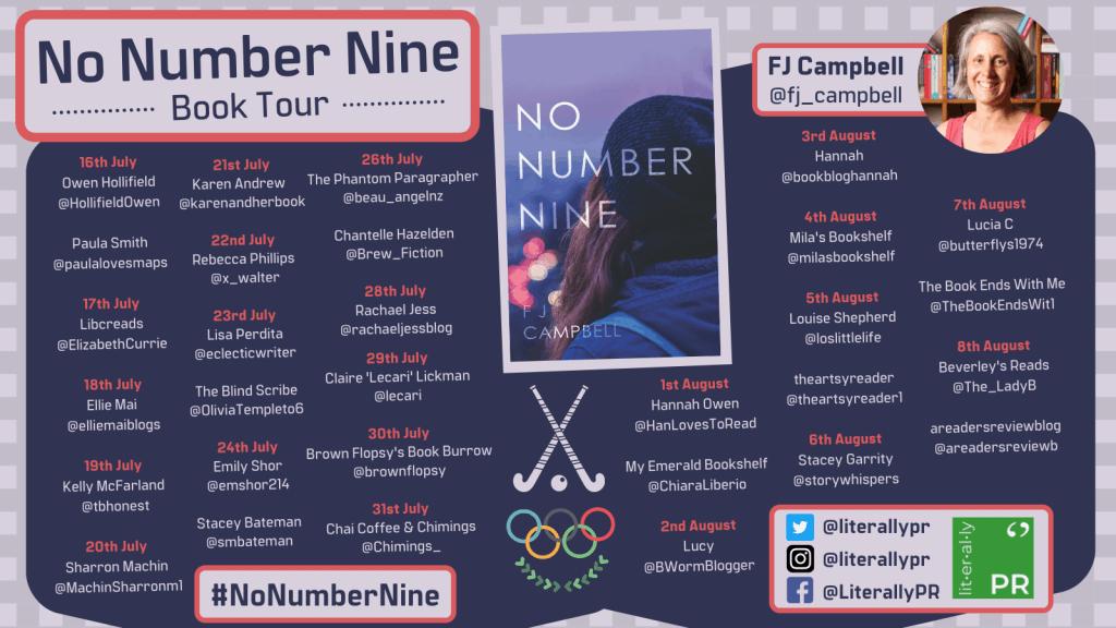 The blog tour banner for No Number Nine