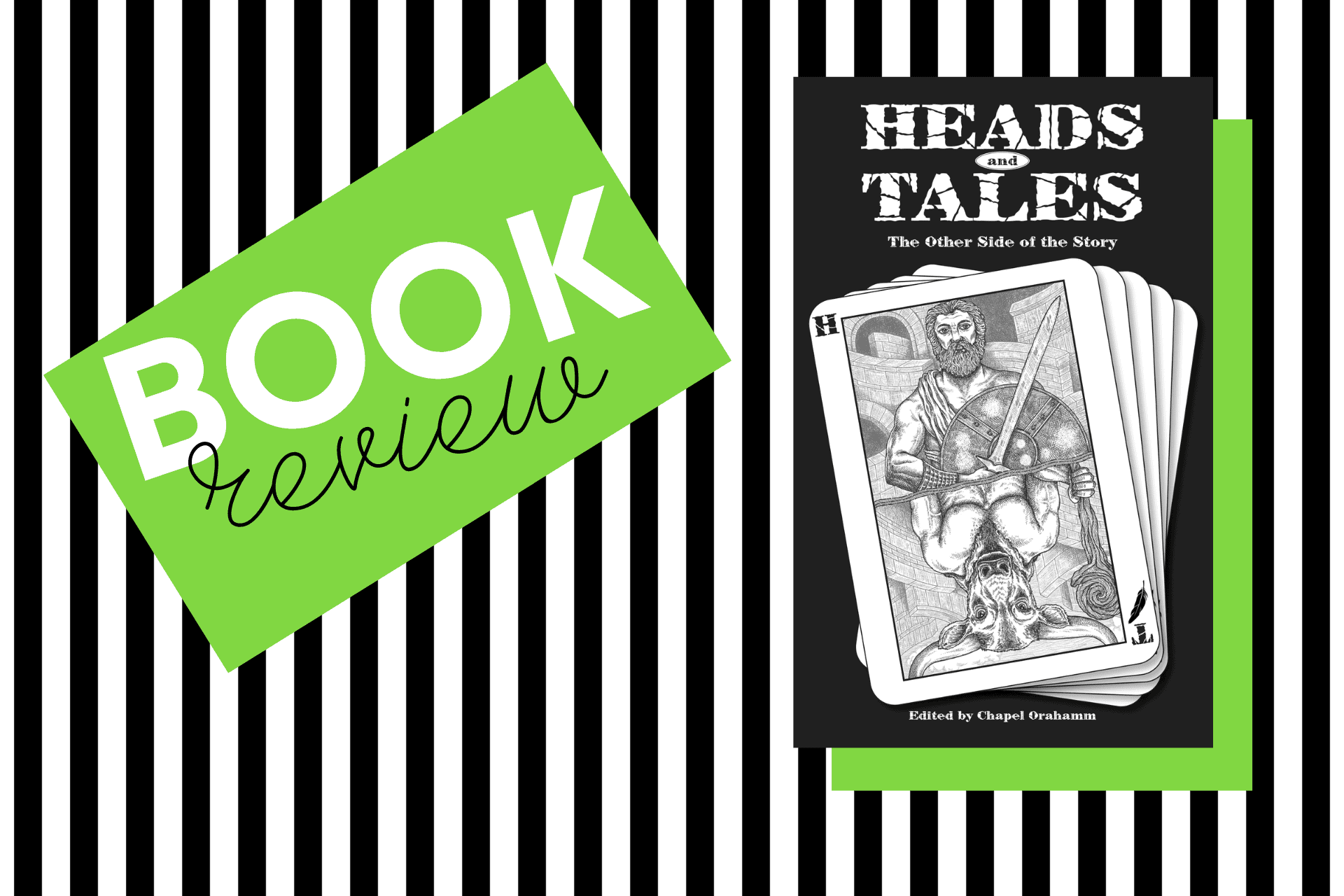 The cover of Heads and Tales, an anthology