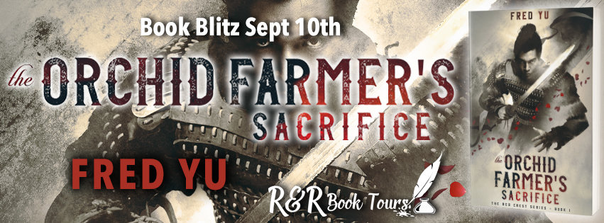 The Book Blitz Tour Banner for the Orchid Farmer's Sacrifice